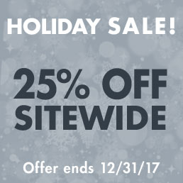 Holiday Sale! 25% Off Sitewide.