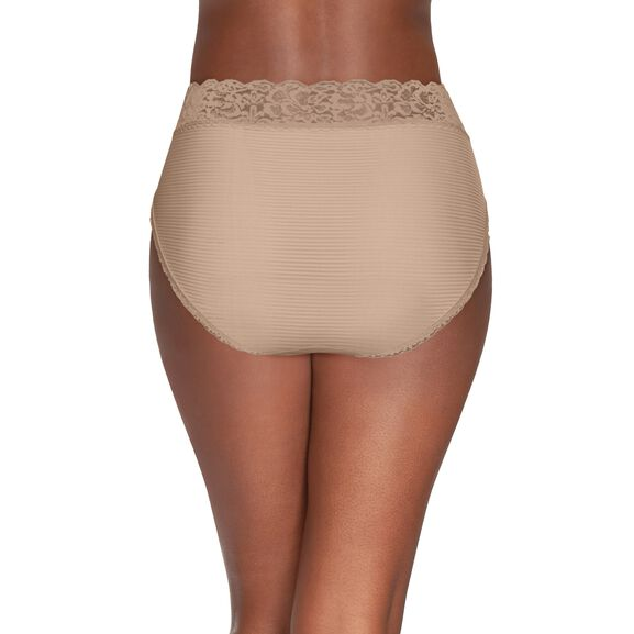 Flattering Lace Hi-Cut Panty Damask Neutral