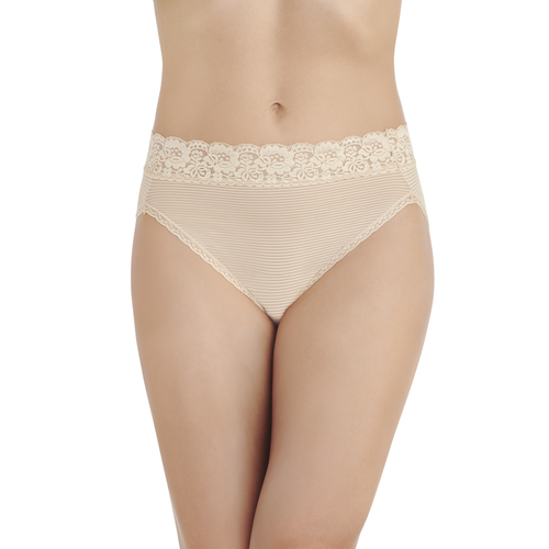Flattering Lace Hi-Cut Rose Beige