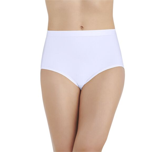 Comfort Where It Counts Brief Panty Star White
