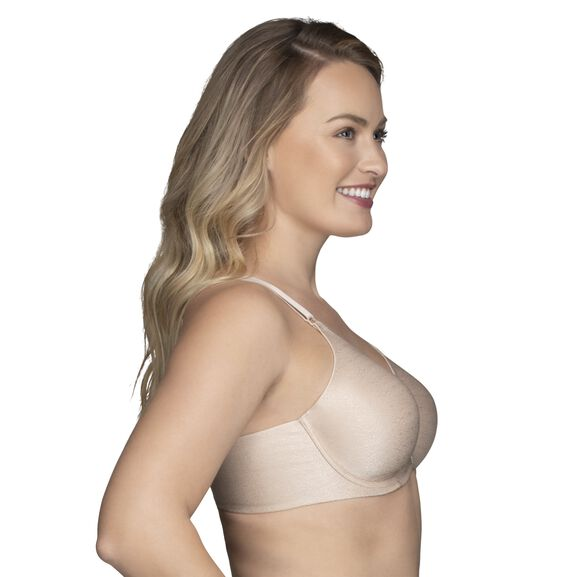 Beauty Back Full Figure Underwire Smoothing Bra Damask Natural Jacquard