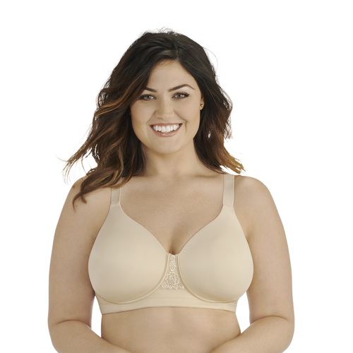 Beauty Back® Full Figure Wirefree Bra Damask Neutral