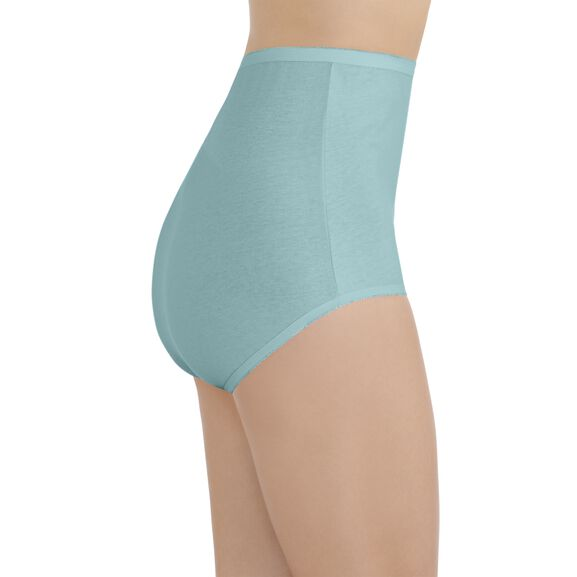 Perfectly Yours® Tailored Cotton Brief Beach Aqua