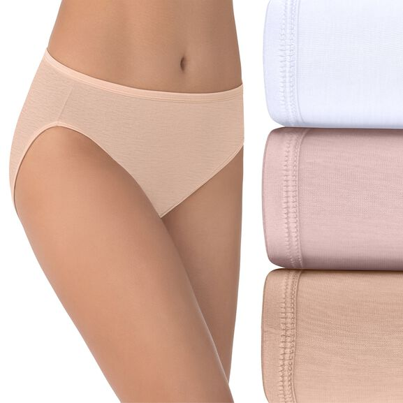 Illumination Hi-Cut Panty, 3 Pack Star White/Sheer Quartz/Rose Beige