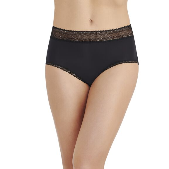 Flattering Lace Brief Panty Black
