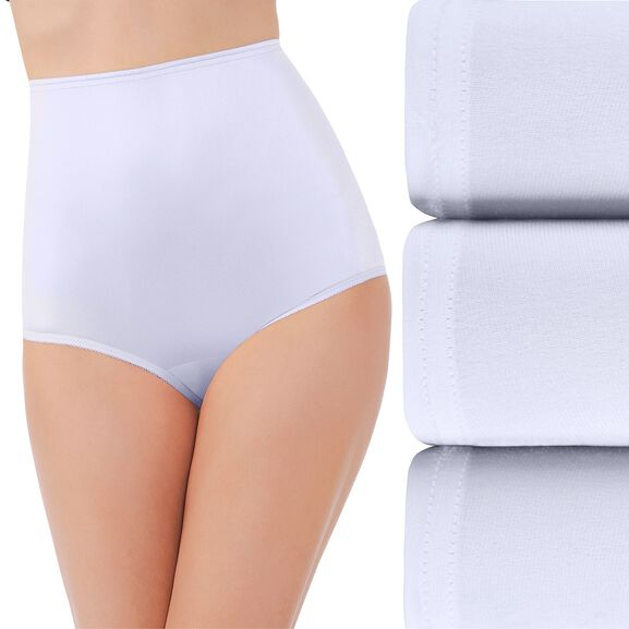 Perfectly Yours Ravissant Tailored Full Brief Panty, 3 Pack Star White/Star White/Star White