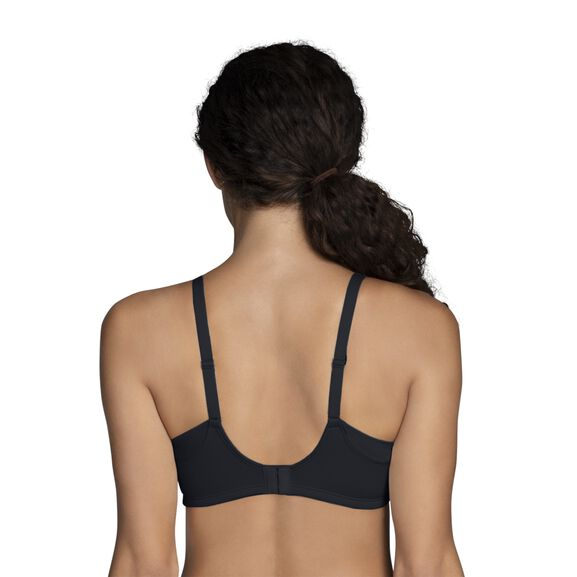 Beauty Back® Full Coverage Wirefree Extended Side and Back Smoother Bra Midnight Black