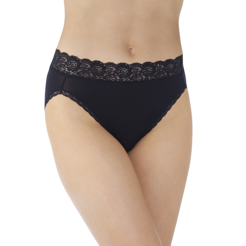 Flattering Lace Hi-Cut Midnight Black