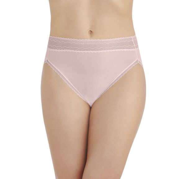 Flattering Lace Hi-Cut Panty Sheer Quartz