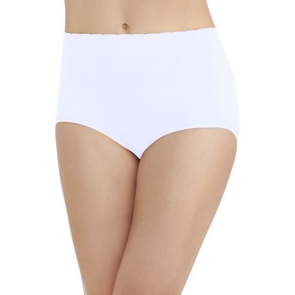 No Pinch No Show Seamless Brief Panty Star White