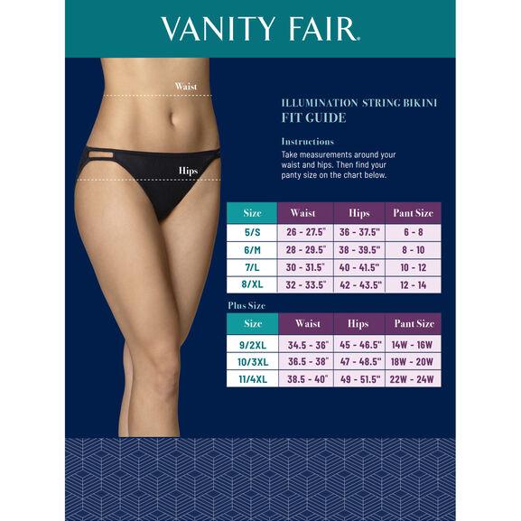 Vanity Fair 18108 String bikini Culotte Saupoudrer imprimer NOUVEAU Tailles 5 /& 6 Bikinis