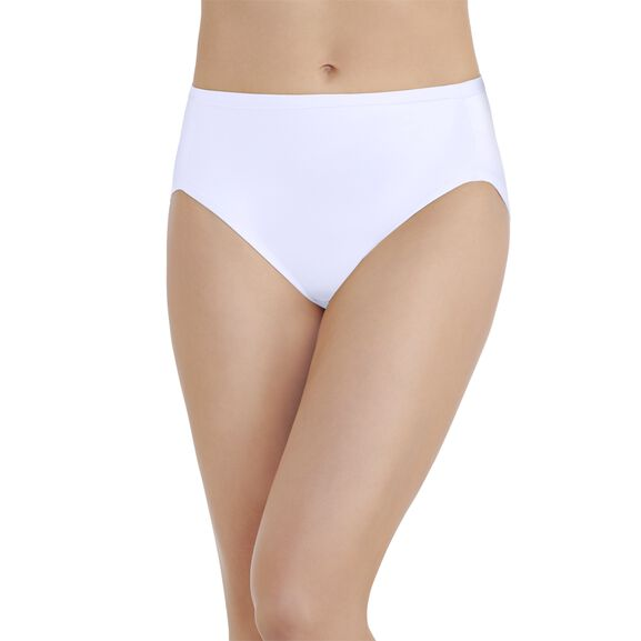 Body Caress Hi-Cut Panty Star White