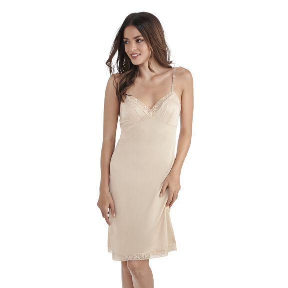 Everyday Layers Lace Trim Full Slip Damask Neutral