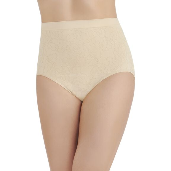 Perfectly YoursSeamless Jacquard Full Brief Panty Damask Neutral