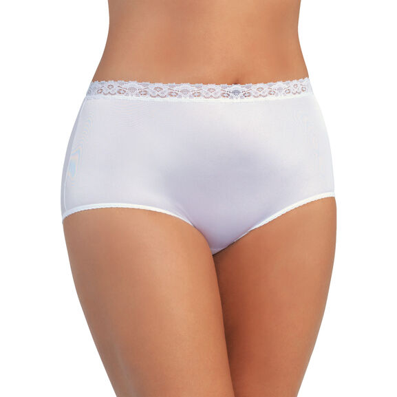 Perfectly Yours Lace Full Brief Panty Glacier White