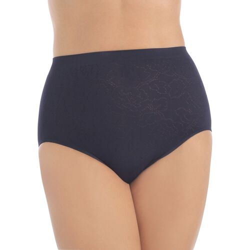 Perfectly Yours® Seamless Jacquard Brief Midnight Black