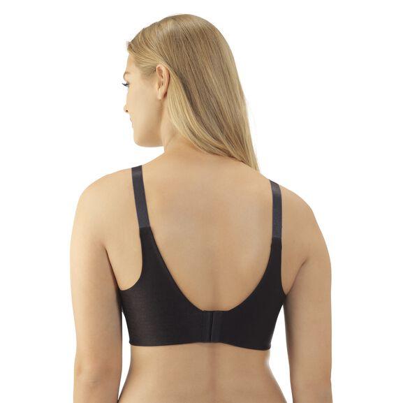 Beauty Back Tailored Full Figure Underwire Bra Midnight Black Jacquard