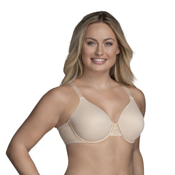 Beauty Back Full Figure Underwire Smoothing Bra Damask Neutral