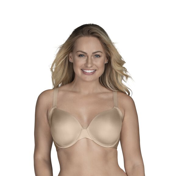 Beauty Back® Full Figure Underwire Extended Side and Back Smoother Bra Damask Neutral