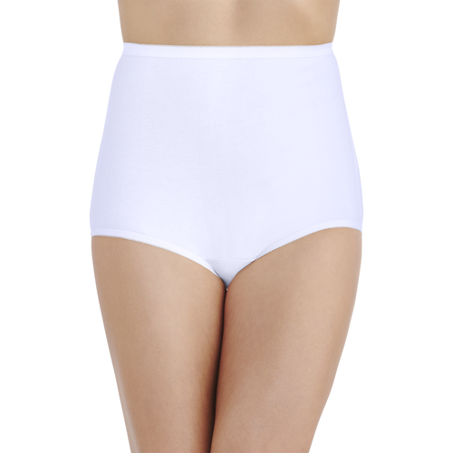 Perfectly Yours® Tailored Cotton Brief Star White