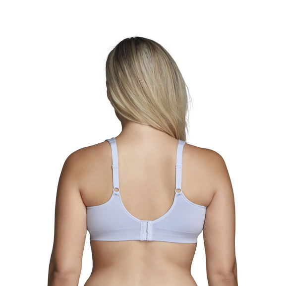Beyond Comfort Full Figure Wirefree Bra Blue Whisper