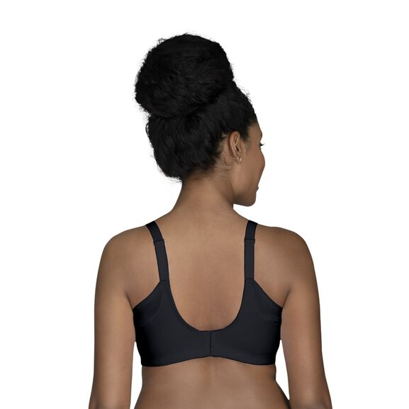 Beauty Back® Full Figure Wirefree Extended Side and Back Smoother Bra Midnight Black