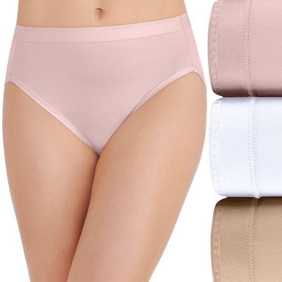 Comfort Where It Counts Hi-Cut Panty, 3 Pack Sheer Quartz/Star White/Damask Neutral