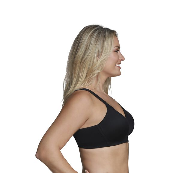 Beyond Comfort Full Figure Wirefree Bra Midnight Black