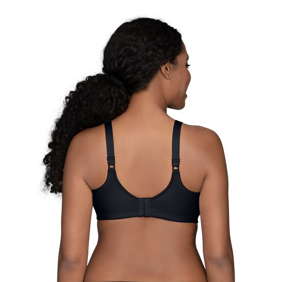 Beauty Back Full Figure Wirefree Smoothing Bra Midnight Black