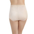 Perfectly Yours® Nylon with Lace Brief Rose Beige