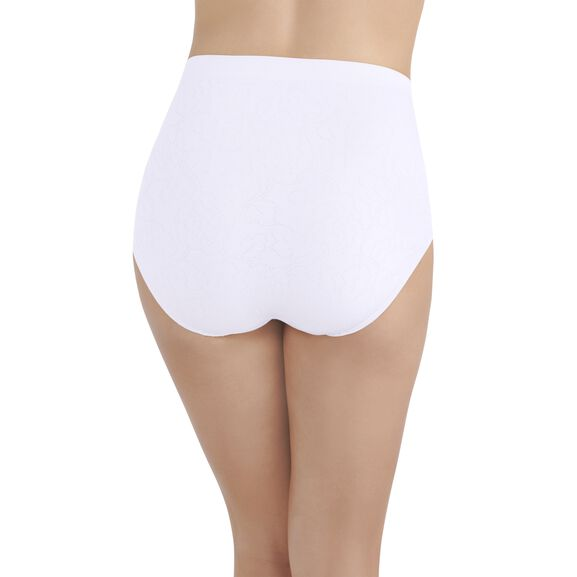 Perfectly Yours® Seamless Jacquard Full Brief Panty Star White