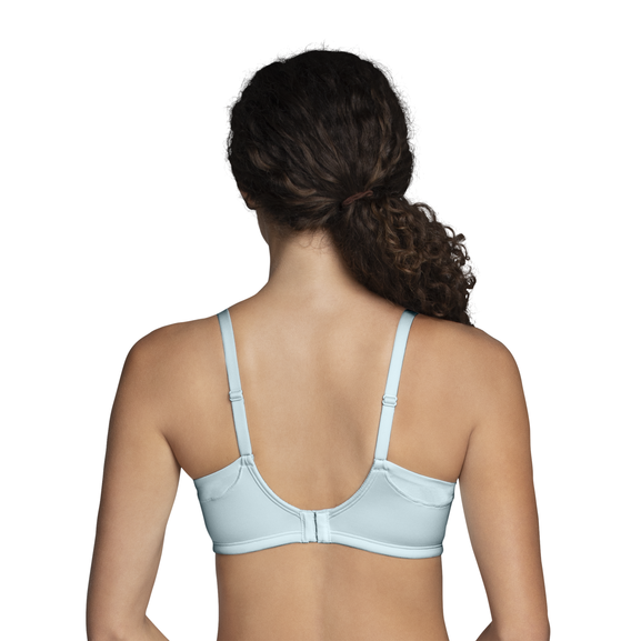 Full Coverage Wirefree Extended Side and Back Smoother Bra Clearwater