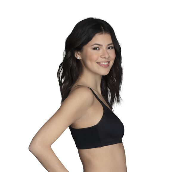 Beyond Comfort® Full Coverage Wirefree Bra Midnight Black Stripe