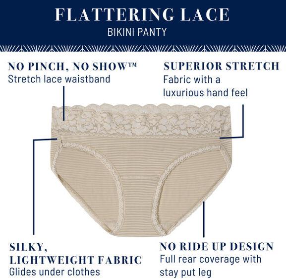 Flattering Lace Bikini Toasted Coconut Stripe