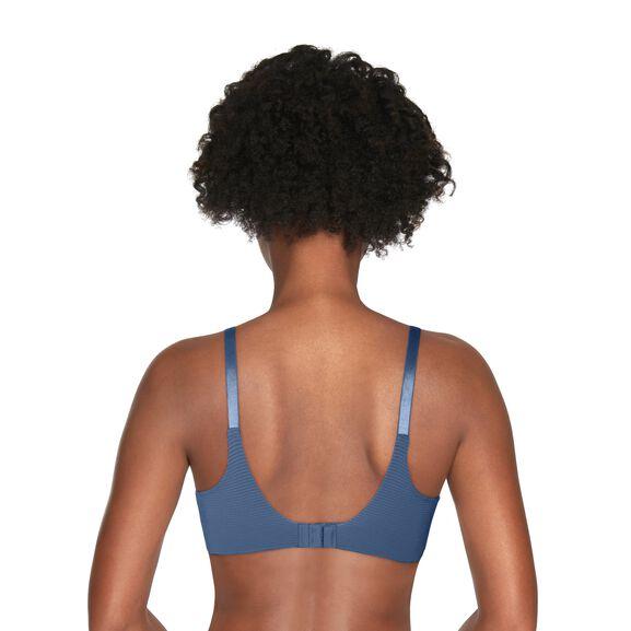 Beauty Back Full Coverage Underwire Smoothing Bra Blue Dusk Stripe