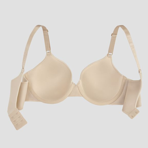 Beauty Back Full Coverage Underwire Smoothing Bra Honey Beige Lace
