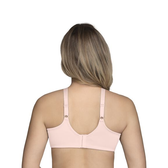 Beauty Back Full Figure Underwire Smoothing Bra with Lace Champagne