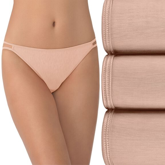 Illumination String Bikini Panty, 3 Pack Rose Beige/Rose Beige/Rose Beige