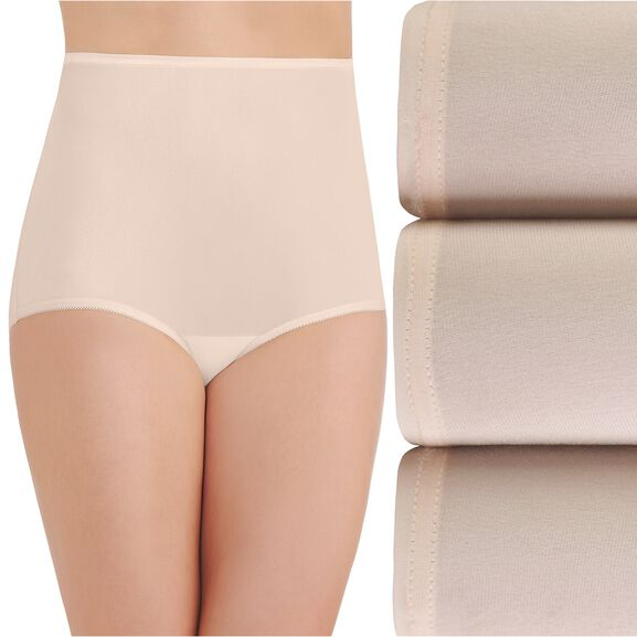 Perfectly Yours Ravissant Tailored Full Brief Panty, 3 Pack Fawn/Fawn/Fawn