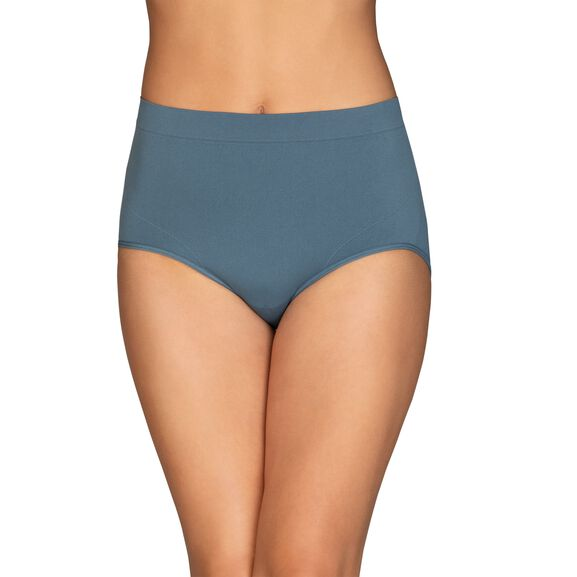 Smoothing Comfort™ Seamless Brief Panty Blue  Note