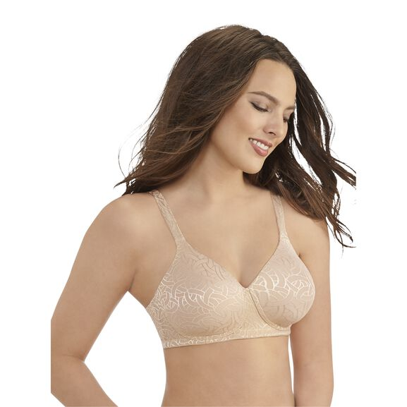 Body Shine Full Coverage Wirefree Bra HONEY BEIGE JACQUARD