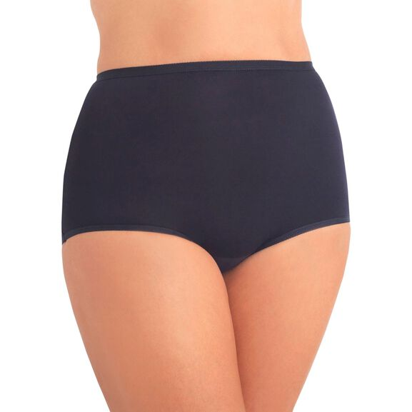 Perfectly Yours Tailored Cotton Full Brief Panty Midnight Black