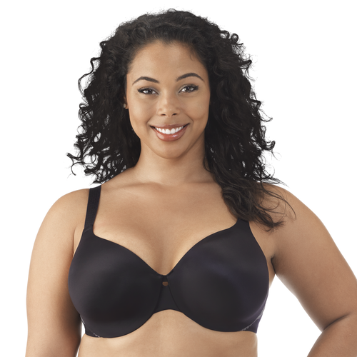 Comfort Where It Counts Full Figure Underwire Midnight Black Charcoal Ash