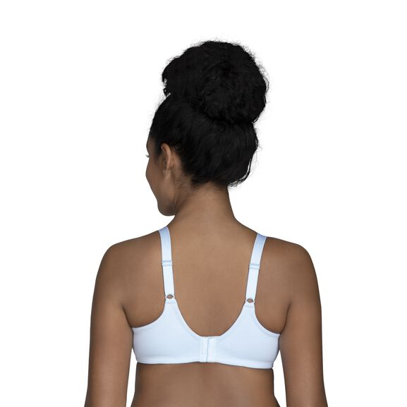 Beauty Back Full Figure Underwire Smoothing Bra with Lace Clear Water