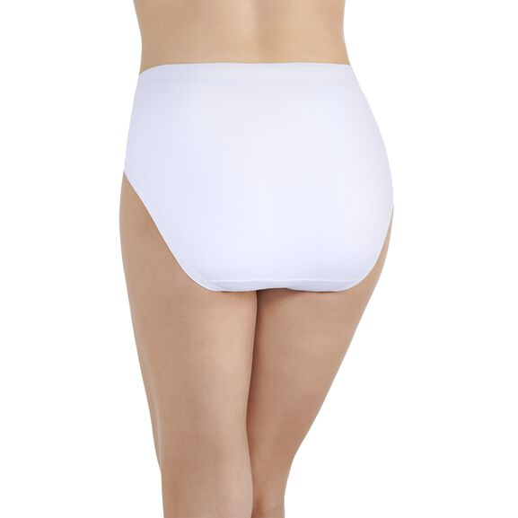 Comfort Where It Counts Hi-Cut Panty Star White
