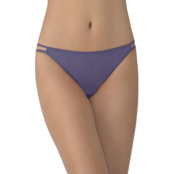 Illumination String Bikini Panty Blue Charcoal