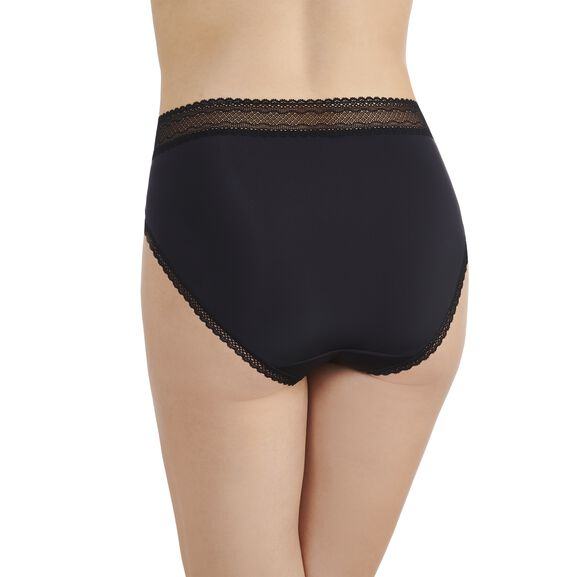 Flattering Lace Hi-Cut Panty Black