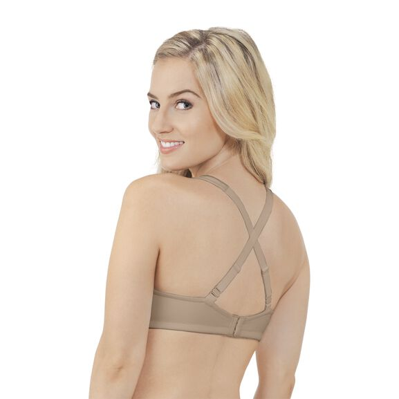 Body Caress Full Coverage Wirefree Bra Damask Neutral