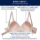 Body Shine Full Coverage Wirefree Bra White Jaquard
