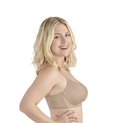Nearly Invisible Full Figure Wirefree Bra DAMASK NEUTRAL